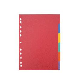 Pergamy Pergamy tabbladen A4 maxi, stevig karton, 6 tabs