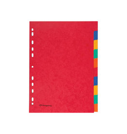 Pergamy Pergamy tabbladen ft A4, stevig karton, 10 tabs