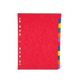 Pergamy Pergamy tabbladen ft A4, stevig karton, 12 tabs