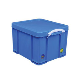 Really Useful Box Really Useful Box opbergdoos 35l, neon blauw witte handvaten