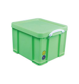 Really Useful Box Really Useful Box opbergdoos 35l, neon groen witte handvaten