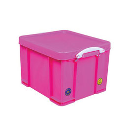 Really Useful Box Really Useful Box opbergdoos 35l, neon roze witte handvaten