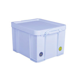 Really Useful Box Really Useful Box opbergdoos 35l neon wit witte handvaten