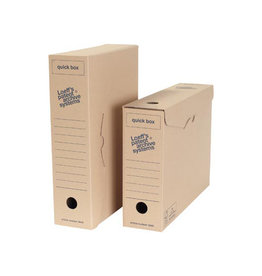 Loeffs Loeff's archiefdoos Quickboy A4 golfkarton, bruin, pak 8 st.