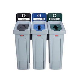 Rubbermaid commercial products Rubbermaid Slim Jim Recyclingstation voor afval, papier