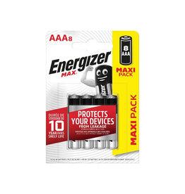 Energizer Energizer batterijen Max AAA, blister van 8 stuks