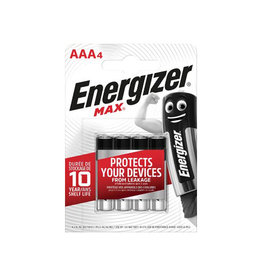 Energizer Energizer batterijen Max AAA, blister van 4 stuks