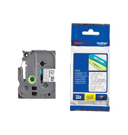 Brother Brother TZe tape voor P-Touch 12 mm, wit op transparant