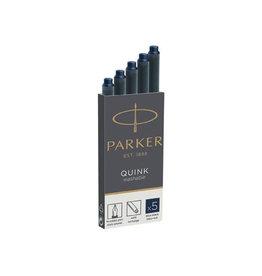 Parker Parker Quink inktpatronen blauw-zwart, doos met 5 stuks