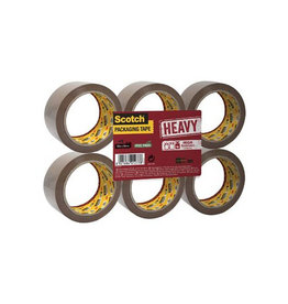 Scotch Scotch verpakkingsplakband Heavy, ft 50mm x 66 m, bruin, 6st