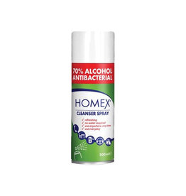 Merkloos Homex cleanser spray, 70 % alcohol, spuitbus van 200 ml