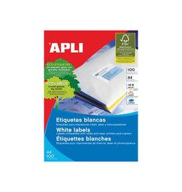 Apli Apli witte etiketten ft 105 x 40 mm (b x h), 1.400 stuks