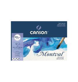 Canson Montval aquarelpapier, wit korrel 300 g/m², ft A3, blok 12