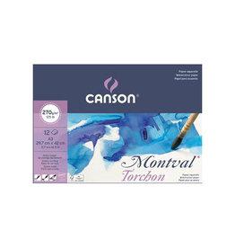Canson Montval aquarelpapier, wit grove korrel 270 g/m², A3