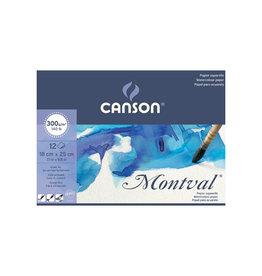 Canson Montval aquarelpapier, wit korrel 300 g/m², ft 18 x 25 cm