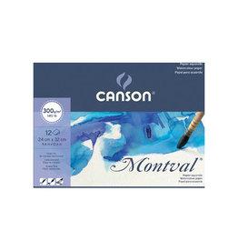 Canson Montval aquarelpapier, wit korrel 300 g/m², ft 24 x 32 cm