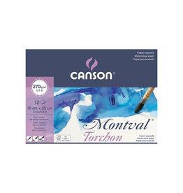 Canson Montval aquarelpapier, wit grove korrel 270 g/m², 18 x 25 cm