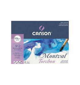 Canson Montval aquarelpapier, wit grove korrel 270 g/m², 24 x 32 cm