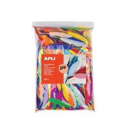Apli Apli pluimen, zakje met 500 stuks in geassorteerde kleuren