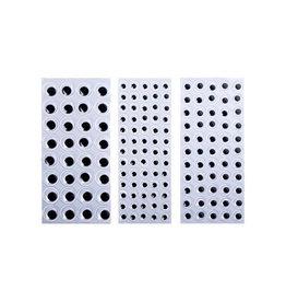 Bouhon Bouhon knutseloogjes mix van 8 mm, 10 mm en 15 mm
