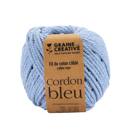 Graine Creative Graine Créative Macramé touw, ft 2,5 mm x 80 m, hemelsblauw