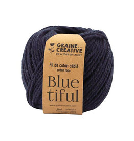 Graine Creative Graine Créative Macramé touw, ft 2,5 mm x 80 m, indigo
