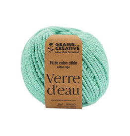 Graine Creative Graine Créative Macramé touw, ft 2,5 mm x 80 m, muntgroen