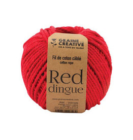 Graine Creative Graine Créative Macramé touw, ft 2,5 mm x 80 m, rood