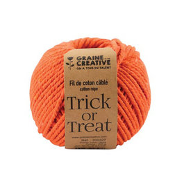 Graine Creative Graine Créative Macramé touw, ft 2,5 mm x 80 m, oranje