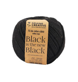 Graine Creative Graine Créative Macramé touw, ft 2,5 mm x 80 m, zwart