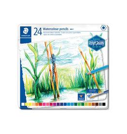 Staedtler Staedtler aquarel potlood, metalen doos met 24 kleuren