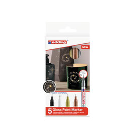 Edding Edding lakmarker 780/5, metallic kleuren basis