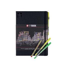 Sakura Sakura schetsboek Note, zwart, ft A4