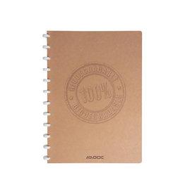Adoc Adoc schriBio A4, 144 bladzijden, geruit 4 x 8mm [10st]