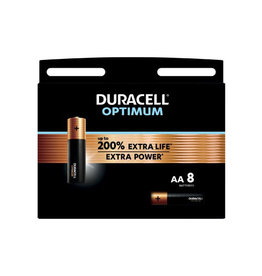 Duracell Duracell batterij Optimum AA, blister van 8 stuks
