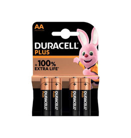 Duracell Duracell batterij Plus 100% AA, blister van 4 stuks