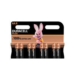 Duracell Duracell batterij Plus 100% AA, blister van 8 stuks
