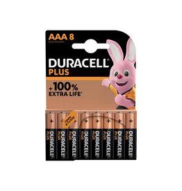 Duracell Duracell batterij Plus 100% AAA, blister van 8 stuks