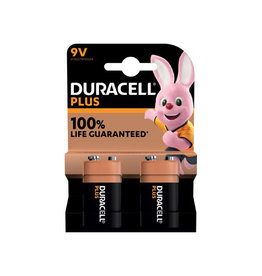 Duracell Duracell batterij Plus 100% 9V, blister van 2 stuks