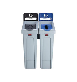 Rubbermaid commercial products Rubbermaid Slim Jim Recyclingstation, zwart / blauw