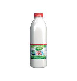 Campina Campina volle melk, 1 liter, pak van 6 stuks