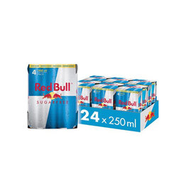 Red Bull Red Bull energiedrank, sugarfree, 25 cl, 4 stuks