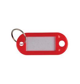 Q-CONNECT Q-Connect sleutelhanger, pak van 10 stuks, rood