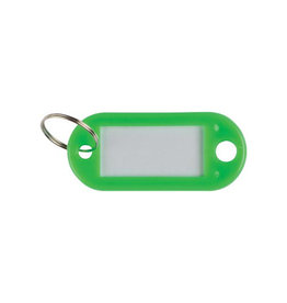Q-CONNECT Q-Connect sleutelhanger, pak van 10 stuks, groen