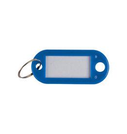 Q-CONNECT Q-Connect sleutelhanger, pak van 10 stuks, donkerblauw