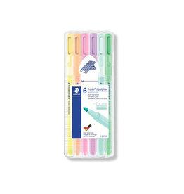 Staedtler Staedtler Triplus Textsurfer, opstelbare box van 6 kleuren