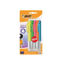 Bic Bic balpen M10 Original Ultracolours, 10 + 4 gratis