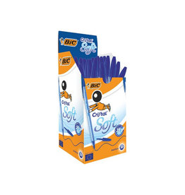 Bic Bic balpen Cristal Soft, medium punt, 50 stuks, blauw