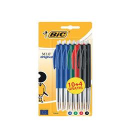 Bic Bic balpen M10 Clic, 0,4 mm, geassorteerde kl. 10 st.