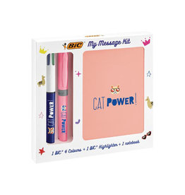 Bic Bic Message Kit Catpower, balpen 4 colours